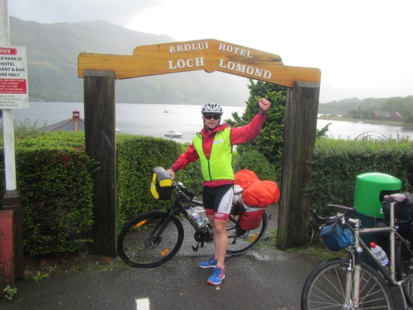 Arriving at Loch Lomond