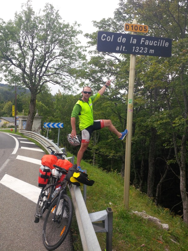 The hight point of the cycle -Col-De-La-Faucille at over 1300m