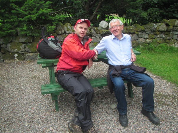 Back down after our successful oxygen-less, unsupported ascent of the CMD arete on the Ben Nevis with this lovely man - Bill Stuart