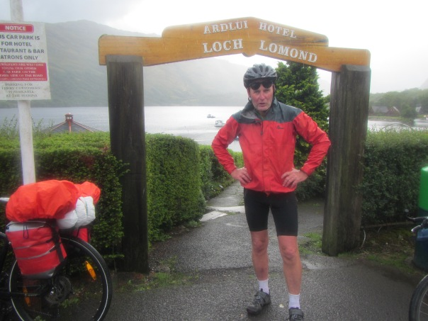Alan at Loch Lomond - still raining.