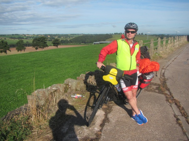 A nice sunny day as peddle through Yorkshire