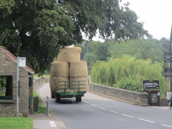 Traffic jams in Yorkshire are mainly from farm machinery