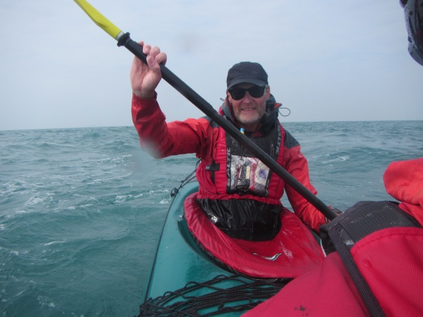 Alan Silva somewhere in the English Channel