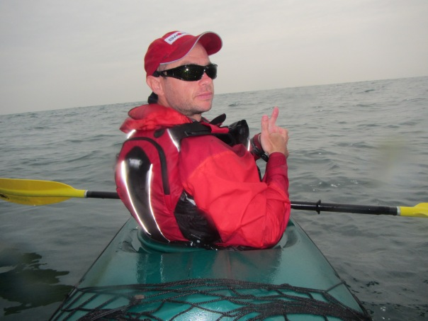 Grant Rawlinson, somewhere in the English Channel