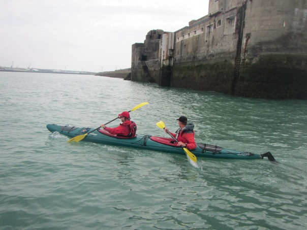 Rounding the breakwater into Boulogne Harbor
