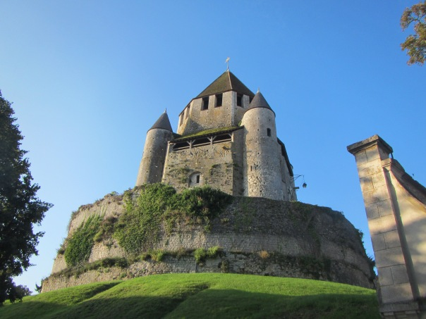 The castle in Provins as seen from Max's garden.