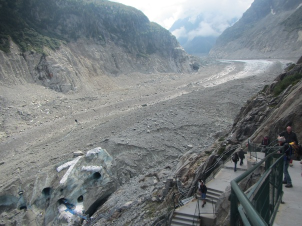 Looking down on the Mer-de-Glace
