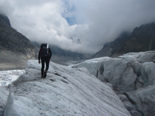 Working our way up through the messy Mer de Glace