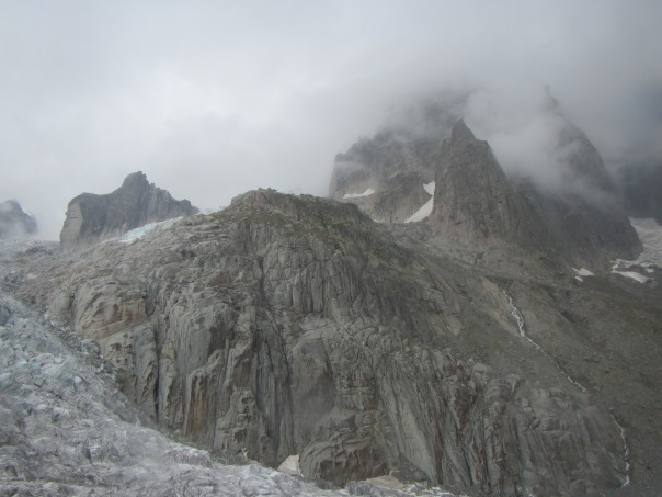 And then a few hours battling through this mess to reach the hut - just visible on the buttress about 150m above the glacier