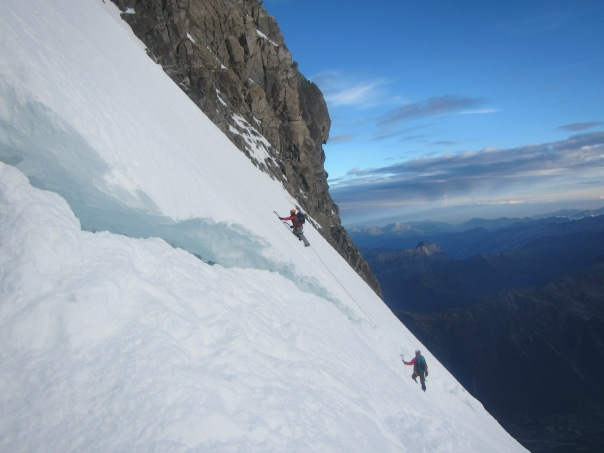 Ascending Mt Maudit