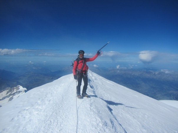 Alan Silva - the  52 year old hard man from Australia - on the summit of Mt Blanc.