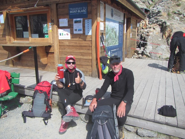 Back at the train station after the climb and the first time in 22 days we could take non-human power!