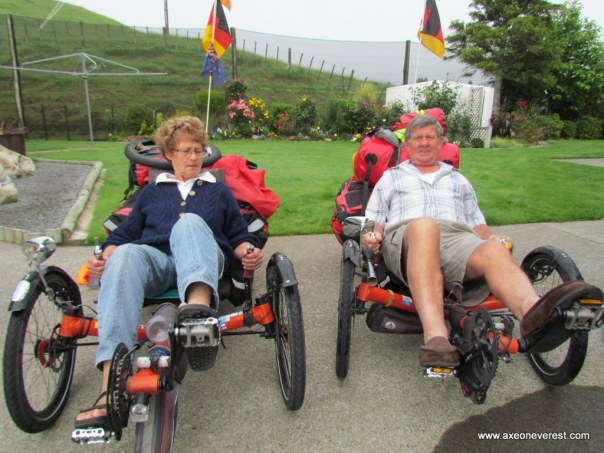 Jack and Ngaire Rawlinson get a chance to try out German cycling technology.