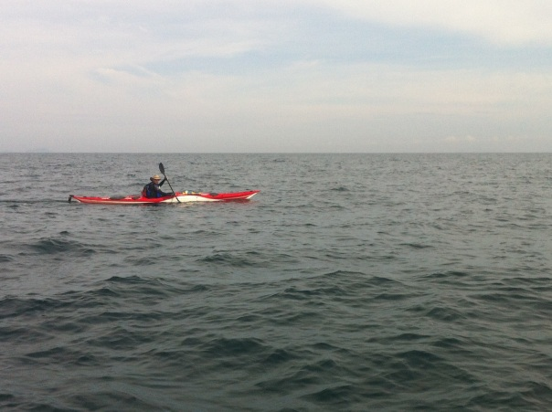 Glassy set's out on the 16km paddle