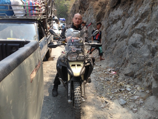 Stuck in the Dawna Mountain Range, moments after clearing customs, at Mae Sot border, Burma.(Mar 2014) Teaches patience in a hurry.