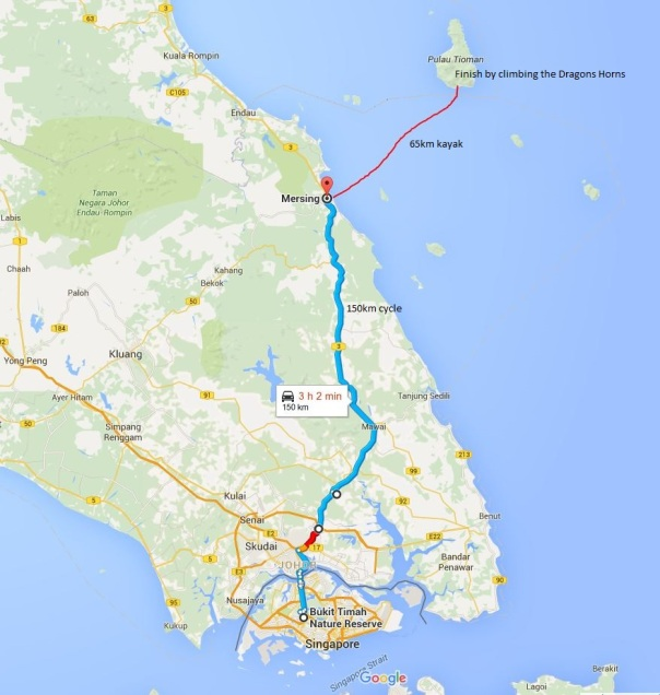 Route map of our intended journey.