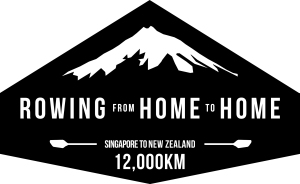 Rowing from home to home logo