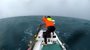 Overcast seas