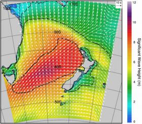 Wave conditions forecast 6am 18 Sep
