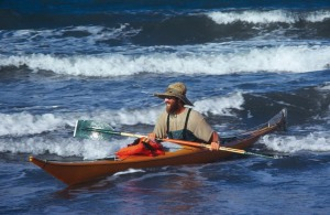Paul Caffyn surfing into Queens Beach, Bowen